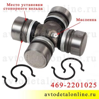 Крестовина карданного вала ВК-469-2201025 или 3102-2201025 на УАЗ Патриот, Хантер, Буханка и др, с масленкой