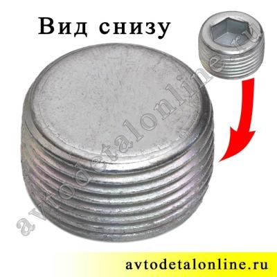 Заливная пробка КПП УАЗ 3151, каталожный номер 1-43253-01, пробка моста УАЗ Спайсер