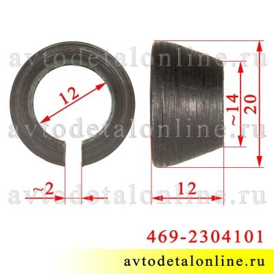 Размер втулки поворотного кулака УАЗ Патриот, Хантер и др. 469-2304101 для крепления рычага к корпусу