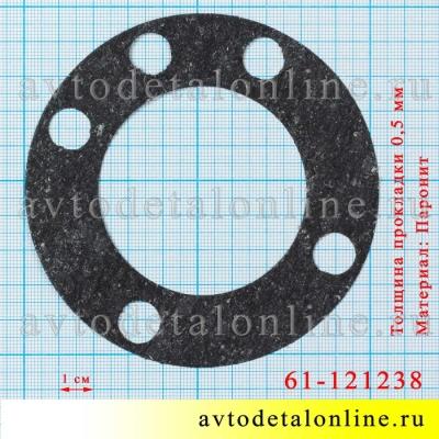 Размер прокладки шаровой опоры поворотного кулака УАЗ Патриот, Хантер и др., 61-121238, паронит