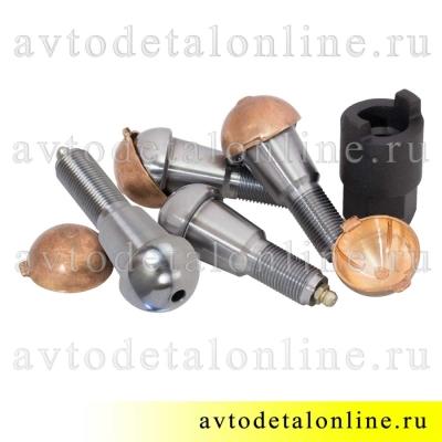 Ремкомплект шкворней Ваксойл на УАЗ Патриот, Хантер 3160-2304019  с длинным шкворнем, вкладышами и ключом