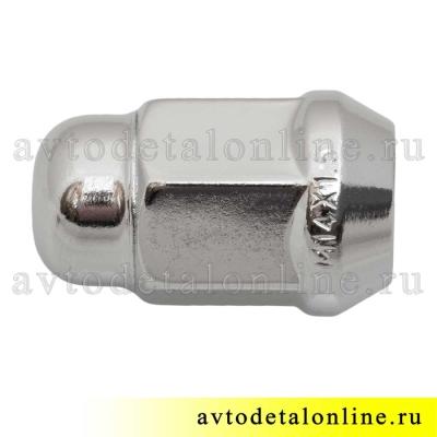 Закрытые гайки колес УАЗ Патриот хром, ключ 19, резьба М14*1,5, H=35 мм, 3163-3101040 замена 3151-3101040