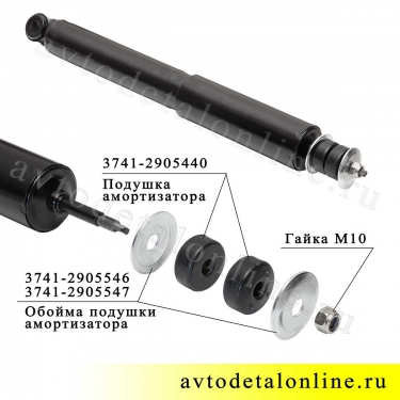 Газомасляный амортизатор передний уаз 3163 Патриот, Кено KNU-2905006-61 на замену  3162-2905006-14, фото