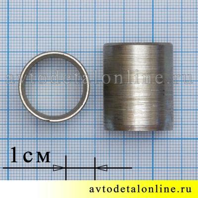 Размеры внутренней переходной металлической втулки рессоры УАЗ Патриот, Хантер, 3160-2912448-01