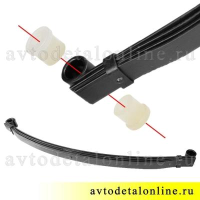 Втулка рессоры УАЗ полиуретан 3160-2912028 на замену резиновой
