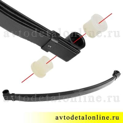 Втулка рессоры УАЗ полиуретановая 469-2902028 купить на замену резиновой
