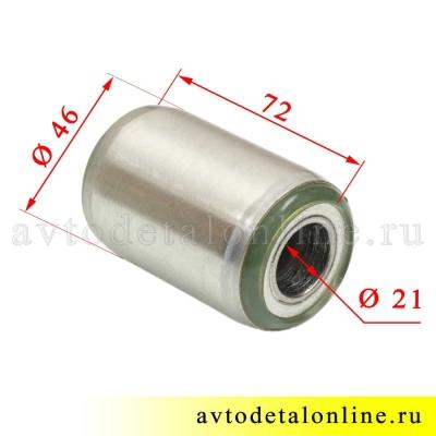 Размеры сайлентблока 3163-2912020 рессор УАЗ Патриот, полиуретан
