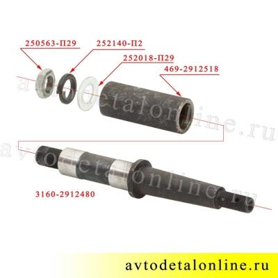 Ось рессоры УАЗ 3160-2912480 на замену старого пальца переднего конца рессоры