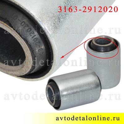 Резиновый сайлентблок рессоры УАЗ размеры, 3163-2912020, комплект 2 шт на замену втулок, Riginal, Н-Новгород