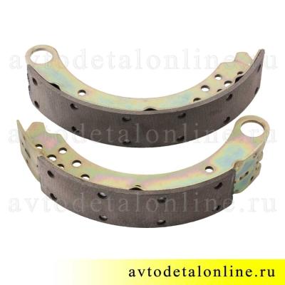 Тормозные колодки задние УАЗ Патриот нового образца, комплект из 2-х  3163-3502088 и 3163-3502089