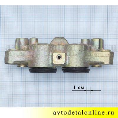 Передний тормозной цилиндр на УАЗ Патриот, Хантер, левый, в сборе,  3160-3501041-10, размеры на фото