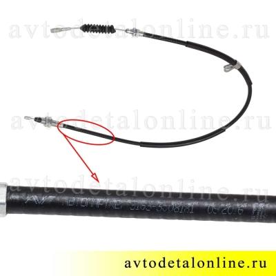 Трос ручника Патриот УАЗ с 2013г левый, 3163-3508181, длина 145 см, фото