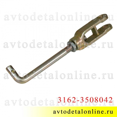 Тяга привода стояночного тормоза УАЗ Патриот, Хантер и др. 3162-3508042, механизм регулировки ручника в сборе