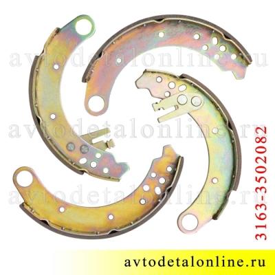 Тормозные колодки задние УАЗ Патриот, 4 шт, 3163-3502082 = 3163-3502088 + 3163-3502089 + 3151-3501090 2 шт