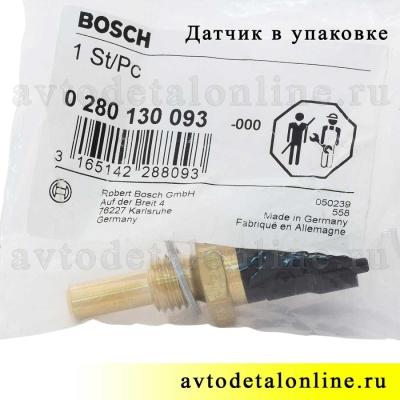 Датчик температуры охлаждающей жидкости ГАЗ-3302, УАЗ Патриот, 40904.3828000, Евро-3, Bosch 0 280 130 093