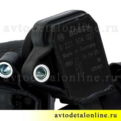 Катушка зажигания УАЗ Патриот, Хантер, ГАЗ-3302 инжекторный 405 двигатель 409, Евро-3, Bosch 0 221 504 027