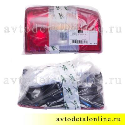 Задняя фара УАЗ Патриот до 2015г, левая, в упаковке, каталожный 3160-3716011-10 номер 961.3716, фото