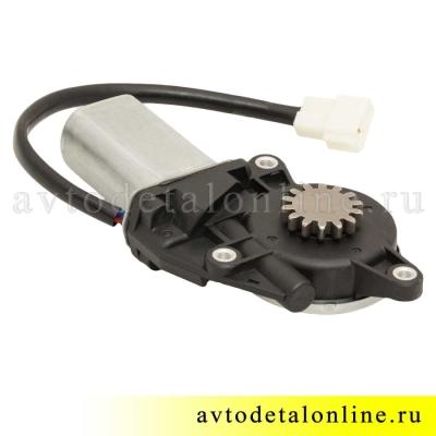 Мотор стеклоподъемника УАЗ Патриот 3163 левый, с редуктором, 14 зубьев, часть от 3163-6104500