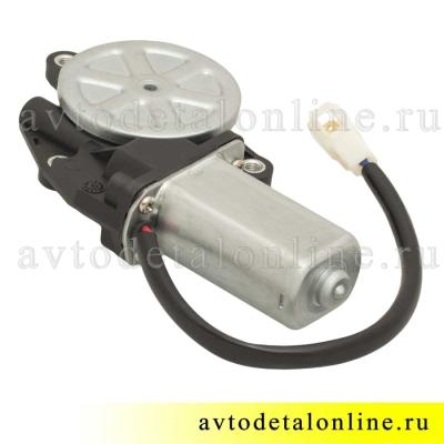 Электрический моторчик стеклоподъемника УАЗ Патриот 3163 с редуктором, левый, 14 зубьев