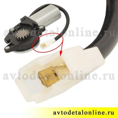Электрический мотор стеклоподъемника УАЗ Патриот 3163 левый, с редуктором, 14 зубьев