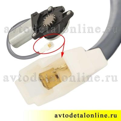 Электрический мотор стеклоподъемника УАЗ Патриот 3163 правый, с редуктором, 14 зубьев