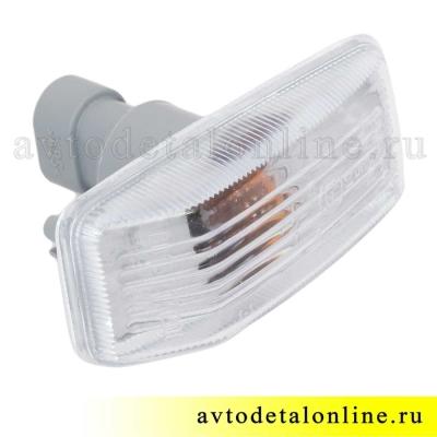 Белый боковой повторитель поворота УАЗ Патриот 3163-3726010-10, евроразъем 3.717.200