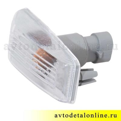 Боковой белый указатель поворота УАЗ Патриот 3163-3726010-10, евроразъем 3.717.200