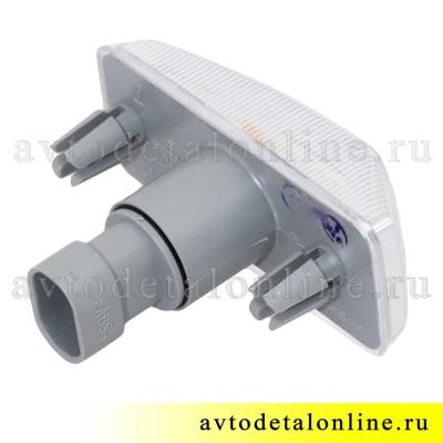 Боковой указатель поворота Патриот УАЗ 3163-3726010-10, евроразъем 3.717.200, белый