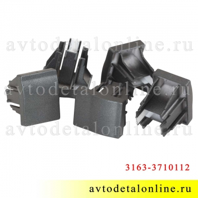 Общий вид заглушки клавиши УАЗ Патриот 3163-3710112 на панели кнопок 999.3710-ххх