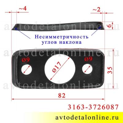 Размер уплотнительной прокладки повторителя поворота УАЗ Патриот 3163-3726087