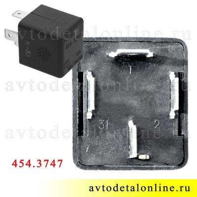 454.3747 реле прерыватель стеклоочистителя УАЗ Патриот, 4 контакта, 3160-3747020, Авар