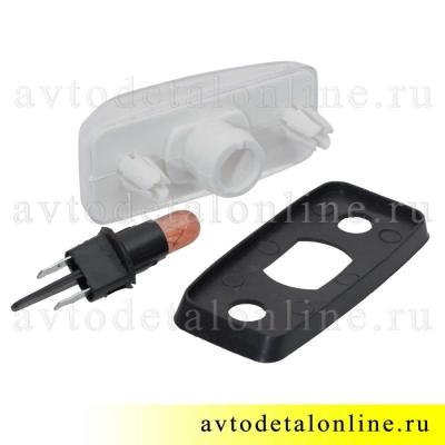 Боковой повторитель поворота Патриот УАЗ 3163-3726010, дополнительный белый поворотник с желтой лампой