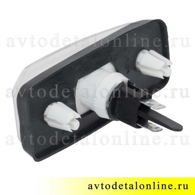Белый боковой повторитель поворота УАЗ Патриот 3163-3726010, поворотник дополнительный, вид сзади