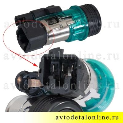 Прикуриватель УАЗ Патриот 3163-3725010 с подсветкой, номер 2123-3725010, крупное фото разъема