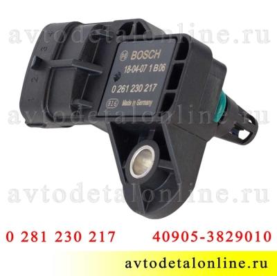 Датчик давления УАЗ Патриот, Хантер на ЗМЗ-409 Евро-4 абсолютного воздуха 40905.3829010 Bosch 0 261 230 217
