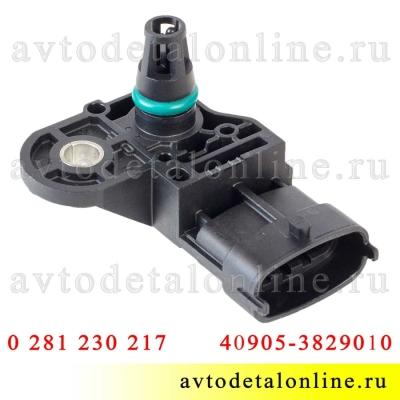 Этикетка датчик абсолютного давления воздуха УАЗ Патриот Евро-4 с 409-ЗМЗ 40905.3829010 Bosch 0 261 230 217