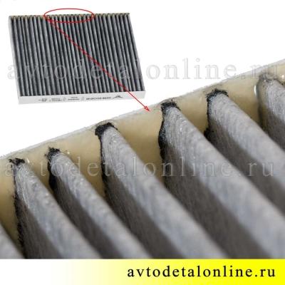 Воздушный угольный фильтр салона УАЗ Патриот после 2016 г для кондиционера, замена 3163-06-8101140-60, фото