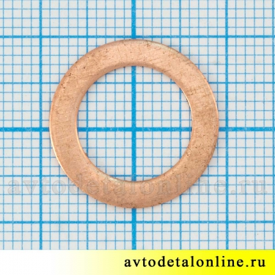 Шайба медная тормозного шланга, плоская, размер d 12 мм, на замену УАЗ, ГАЗ, артикул 51-3506013, купить, цена