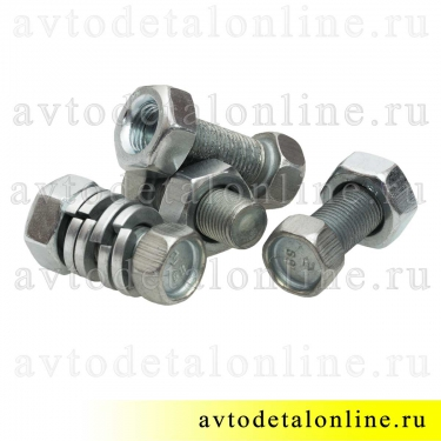 Болт кардана УАЗ, ГАЗ 201518-П29, гайка 31512-2401059 или 250513-П29, гровер 252156-П2, комплект по 4 шт