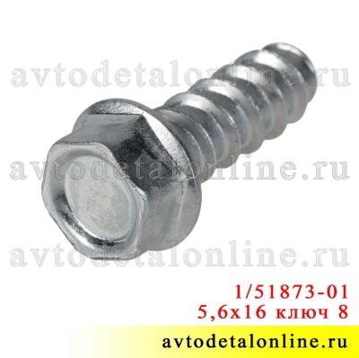 Саморез 5,6х16 с головкой под ключ 8, каталожный номер 00001-0051873-018 широкое применение