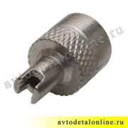 Колпачок на ниппель колеса металлический с ключом, 402-3106043