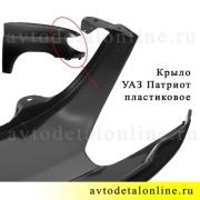 Крыло переднее правое УАЗ Патриот, пластиковое на замену 3163-8403012, купить