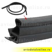 Резиновый дверной уплотнитель УАЗ Патриот 3163-6207018 на замену в задней двери, длина 3640 мм