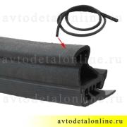 Резиновый дверной уплотнитель УАЗ Патриот 3163-6107018 на замену в передней двери, длина 3550 мм