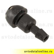 Форсунка омывателя УАЗ Патриот и др., жиклер 2-х струйный под фиксатор, 3160-5208080
