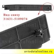 Пластиковые накладки на пороги УАЗ Патриот задняя правая, номер облицовки порога пола 31631-5109074