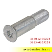Палец фиксатора замка двери УАЗ Патриот 3163-6105228, специальный винт М10х1,25