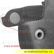 Карман-накладка правая на обивку передней двери УАЗ Патриот 3163-6102022 с решеткой для динамика