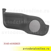 Карман передней двери УАЗ Патриот 3163-6102023, левая накладка на обивку с решеткой для динамика