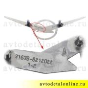 Большой заводской знак УАЗ 3163-80-8212022 эмблема УАЗ Патриот н/о с 2014 г, фото с маркировкой
